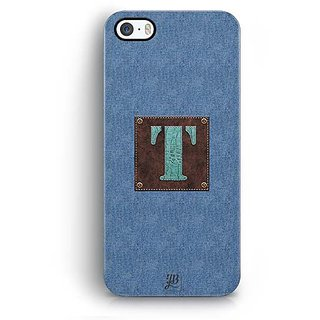 YuBingo Monogram with Beautifully Written Jeans and Macho Male Leather Finish letter T Designer Mobile Case Back Cover for Apple iPhone 5 / 5S / SE
