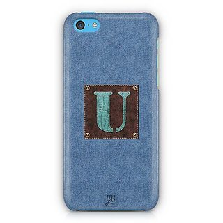 YuBingo Monogram with Beautifully Written Jeans and Macho Male Leather Finish letter U Designer Mobile Case Back Cover for Apple iPhone 5C