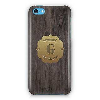 YuBingo Monogram with Beautifully Written Wooden and Metal (Plastic) Finish letter G Designer Mobile Case Back Cover for Apple iPhone 5C