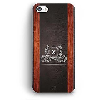 Buy Yubingo Monogram With Beautifully Written Wooden And Leather Plastic Finish Letter X Designer Mobile Case Back Cover For Apple Iphone 5 5s Se Online 549 From Shopclues