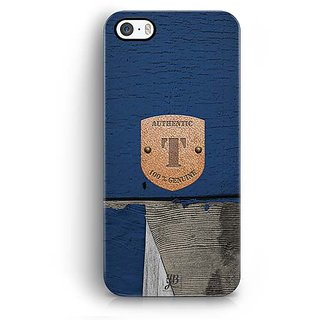 YuBingo Monogram with Beautifully Written Wooden and Metal (Plastic) Finish letter T Designer Mobile Case Back Cover for Apple iPhone 5 / 5S / SE