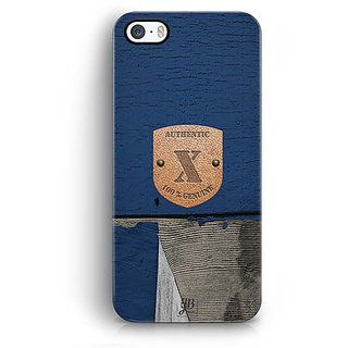 YuBingo Monogram with Beautifully Written Wooden and Metal (Plastic) Finish letter X Designer Mobile Case Back Cover for Apple iPhone 5 / 5S / SE