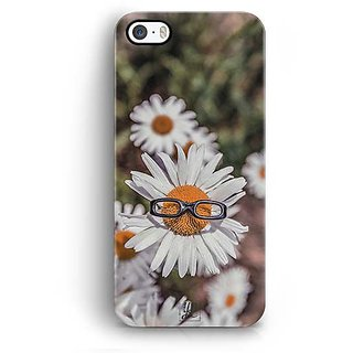 YuBingo Sunflower wearing glasses Designer Mobile Case Back Cover for Apple iPhone 5 / 5S / SE