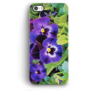 YuBingo Purple flowers Designer Mobile Case Back Cover for Apple iPhone 5 / 5S / SE