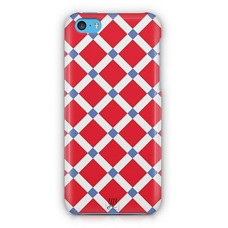 YuBingo Red Square Pattern Designer Mobile Case Back Cover for Apple iPhone 5C