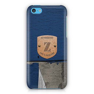 YuBingo Monogram with Beautifully Written Wooden and Metal (Plastic) Finish letter Z Designer Mobile Case Back Cover for Apple iPhone 5C