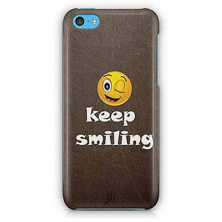 YuBingo Keep Smiling Designer Mobile Case Back Cover for Apple iPhone 5C