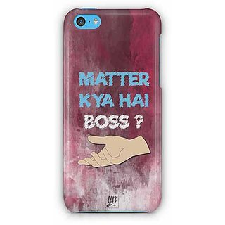 YuBingo What's the Matter, Boss? Designer Mobile Case Back Cover for Apple iPhone 5C
