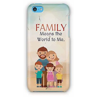 YuBingo Family Means the World To Me Designer Mobile Case Back Cover for Apple iPhone 5C
