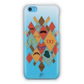 YuBingo Glasses & Moustaches Designer Mobile Case Back Cover for Apple iPhone 5C