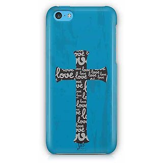 YuBingo Love Cross Designer Mobile Case Back Cover for Apple iPhone 5C