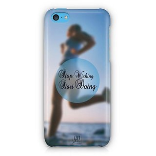 YuBingo Stop Wishing, Start Doing Designer Mobile Case Back Cover for Apple iPhone 5C