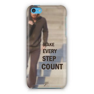YuBingo Make Every Step Count Designer Mobile Case Back Cover for Apple iPhone 5C