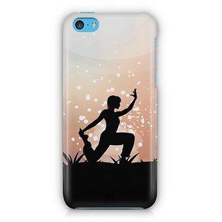 YuBingo The Yoga Pose Designer Mobile Case Back Cover for Apple iPhone 5C