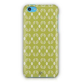 YuBingo White leaf and flowers Designer Mobile Case Back Cover for Apple iPhone 5C
