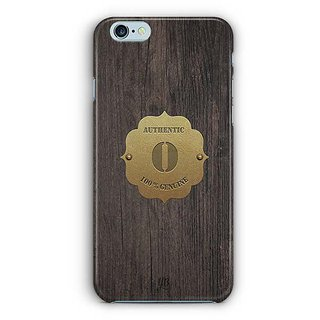 YuBingo Monogram with Beautifully Written Wooden and Metal (Plastic) Finish letter O Designer Mobile Case Back Cover for Apple iPhone 6 / 6S