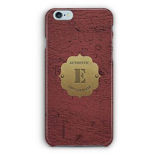 YuBingo Monogram with Beautifully Written Wooden and Metal (Plastic) Finish letter E Designer Mobile Case Back Cover for Apple iPhone 6 / 6S
