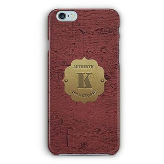 YuBingo Monogram with Beautifully Written Wooden and Metal (Plastic) Finish letter K Designer Mobile Case Back Cover for Apple iPhone 6 / 6S