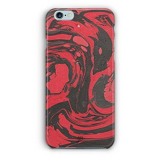 YuBingo Red Black Marble Finish (Plastic) Designer Mobile Case Back Cover for Apple iPhone 6 / 6S