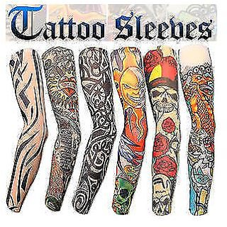 Wearable Arm Tattoo Sleeves For Style / Biking Sun Protection - 2 pair CODEbY-6708