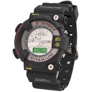 MTG Chronograph Supercool Black Fiber Round Watch - Men by  Savan Retails
