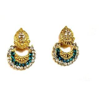fashionable Golden drop Earrings for women  Girls by shrungarika ( E-388 )