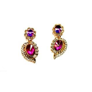 Fashionable Purple Drop Earrings for women  girls by shrungarika ( E-387 )