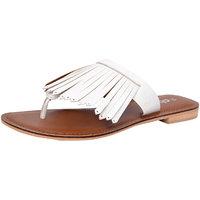 Suri Leather Cutout White Women Flat (SU0011-White)