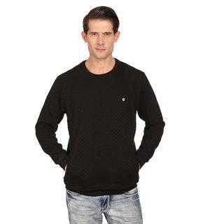 Neva Black Round Neck Long Sleeve SwearShirt For Men