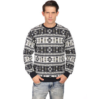 Neva Navy Round Neck Long Sleeve SwearShirt For Men