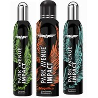 Park Avenue Impact Magnifico,Sharp,Icon Prefumed Deodorants Pack Of 3 For Men Combo Set (Set Of 3)b