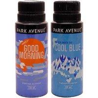 Park Avenue Park Avenue Cool Blue, Good Morning Pack Of 2 Deodorants Combo Set (Set Of 2)