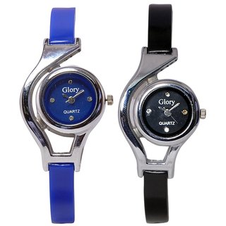 womens Glory BlueBlack watches combo by  Savan Retails