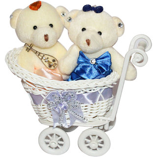 Buy Anishop Trolly Cycle Couple Teddy Love Set Decorative Valentine