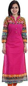 Women's Cotton Semi-Stitched Regular Wear long Kurtis