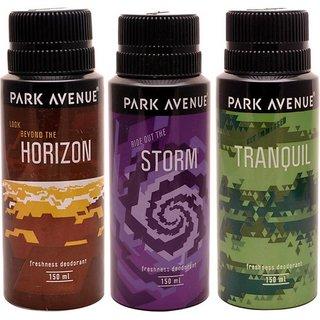 Park Avenue Park Avenue Storm, Tranquil, Horizon Pack of 3 Deodorants Combo Set (Set of 3)