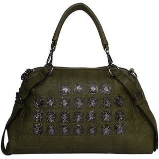 Brazeal Studio Green Block Print Casual Sling Bag