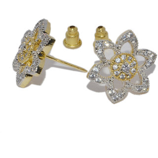 Ruharshi Creation American Diamond Studd Flower Style Earring (ADE4)
