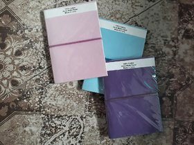 soft cover plain recycled handmade paper diary with ruled paper