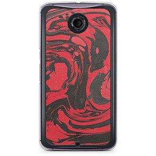 huge selection of eac65 cd723 Buy YuBingo Red Black Marble Finish (Plastic) Designer Mobile Case ...