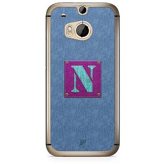 YuBingo Monogram with Beautifully Written Jeans and Girly Leather Finish letter N Designer Mobile Case Back Cover for HTC One M8