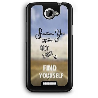 YuBingo Get Lost to Find Yourself Designer Mobile Case Back Cover for HTC One X