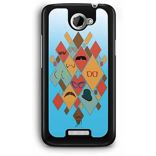 YuBingo Glasses & Moustaches Designer Mobile Case Back Cover for HTC One X