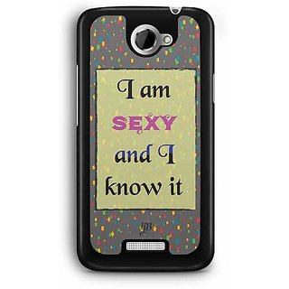 YuBingo I am sexy and I know it Designer Mobile Case Back Cover for HTC One X