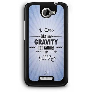 YuBingo I can Blame Gravity for falling in Love Designer Mobile Case Back Cover for HTC One X