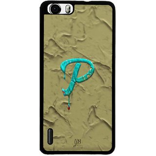 YuBingo Monogram with Beautifully Written Paint Finish letter P Designer Mobile Case Back Cover for Huawei Honor 6