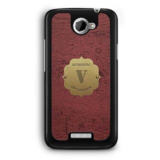 YuBingo Monogram with Beautifully Written Wooden and Metal (Plastic) Finish letter V Designer Mobile Case Back Cover for HTC One X