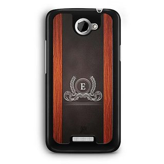 YuBingo Monogram with Beautifully Written Wooden and Leather (Plastic) Finish letter E Designer Mobile Case Back Cover for HTC One X