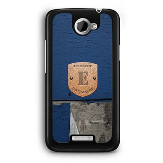 YuBingo Monogram with Beautifully Written Wooden and Metal (Plastic) Finish letter E Designer Mobile Case Back Cover for HTC One X