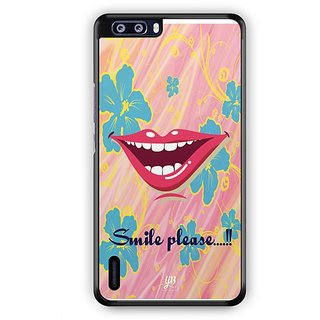 YuBingo Smile Please Designer Mobile Case Back Cover for Huawei Honor 6 Plus